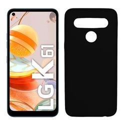 Funda negra para LG K61 de silicona