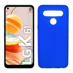 Funda azul para LG K61 de silicona