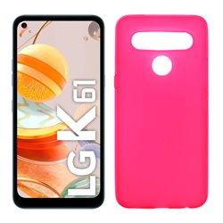 Funda rosa para LG K61 de silicona
