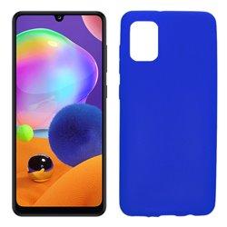 Funda azul para Samsung Galaxy A31 de silicona