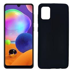 Funda negra para Samsung Galaxy A31 de silicona