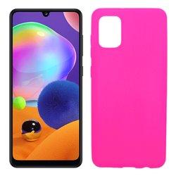 Funda rosa para Samsung Galaxy A31 de silicona