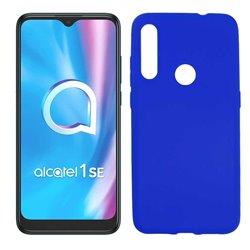 Funda azul para Alcatel 1SE 2020 de silicona