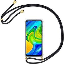 Funda colgante con cordón para Xiaomi Redmi Note 9 Negro