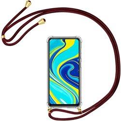 Funda colgante con cordón para Xiaomi Redmi Note 9S Burdeos