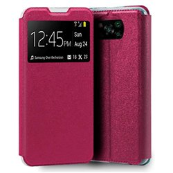 Funda con Tapa y Ventana para Poco X3 NFC rosa