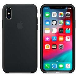 Funda de Silicona suave con logo para Apple iPhone X / XS Negro