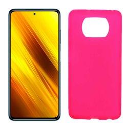 Funda rosa para Poco X3 NFC de silicona