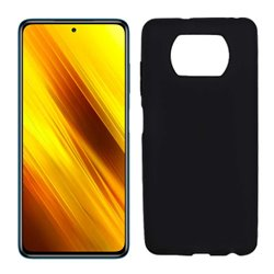 Funda negra para Poco X3 NFC de silicona