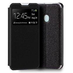 Funda con tapa y ventana para Samsung Galaxy A21S Negro