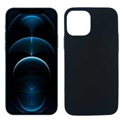 Funda negra para iPhone 12 Pro Max de silicona