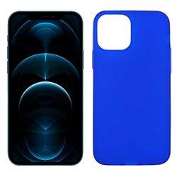 Funda azul para iPhone 12 Pro Max de silicona