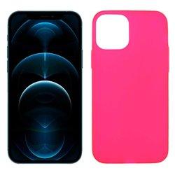 Funda rosa para iPhone 12 Pro Max de silicona
