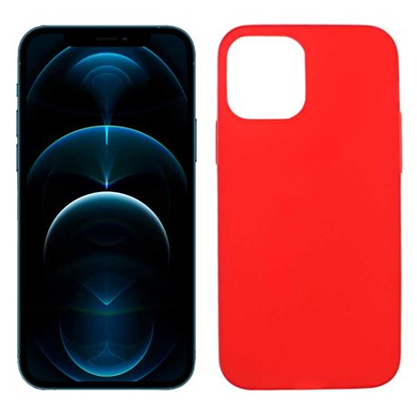 Funda roja para iPhone 12 Pro Max de silicona