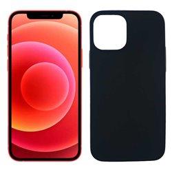 Funda negra para iPhone 12 / 12 Pro de silicona