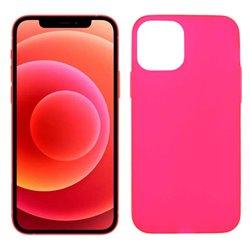 Funda rosa para iPhone 12 / 12 Pro de silicona