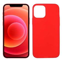 Funda roja para iPhone 12 / 12 Pro de silicona