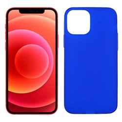 Funda azul para iPhone 12 / 12 Pro de silicona