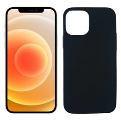 Funda negra para iPhone 12 Mini de silicona