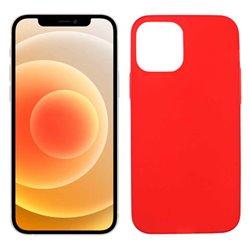 Funda roja para iPhone 12 Mini de silicona
