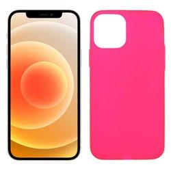 Funda rosa para iPhone 12 Mini de silicona