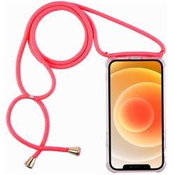 Funda con cordón para iPhone 12 Mini Rosa