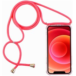 Funda con cordón para iPhone 12 / 12 Pro Rosa