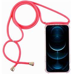Funda con cordón para iPhone 12 Pro Max Rosa