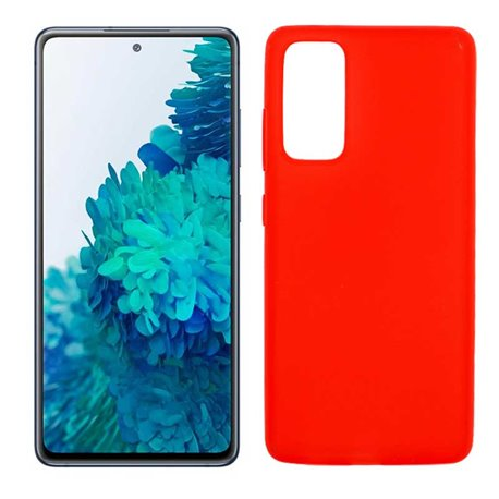 Funda roja para Samsung Galaxy S20 FE de silicona