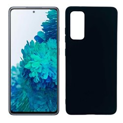 Funda negra para Samsung Galaxy S20 FE de silicona