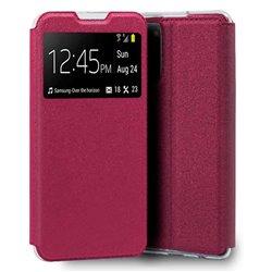 Funda con tapa y ventana para Samsung Galaxy S20 FE Rosa