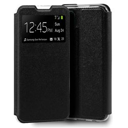 Funda con tapa y ventana para iPhone 12 Mini Negro