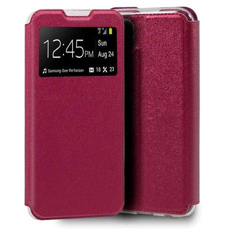 Funda con tapa y ventana para iPhone 12 Pro Max Rosa