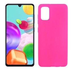 Funda rosa para Samsung Galaxy A41 de silicona