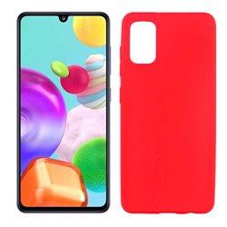 Funda roja para Samsung Galaxy A41 de silicona