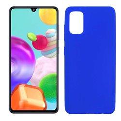 Funda azul para Samsung Galaxy A41 de silicona