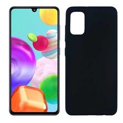 Funda negro para Samsung Galaxy A41 de silicona