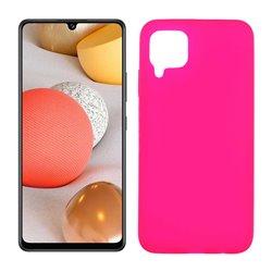 Funda rosa para Samsung Galaxy A42 5G de silicona