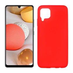 Funda roja para Samsung Galaxy A42 5G de silicona