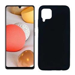 Funda negra para Samsung Galaxy A42 5G de silicona