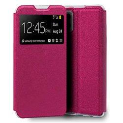 Funda con tapa y ventana para Samsung Galaxy A42 5G Rosa