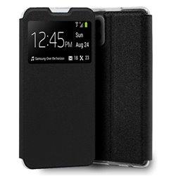 Funda con tapa y ventana para Samsung Galaxy A42 5G Negro