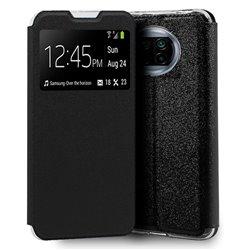 Funda con Tapa y Ventana para Xiaomi Mi 10T Lite negro