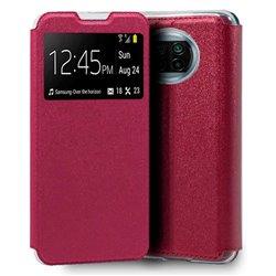 Funda con Tapa y Ventana para Xiaomi Mi 10T Lite rosa