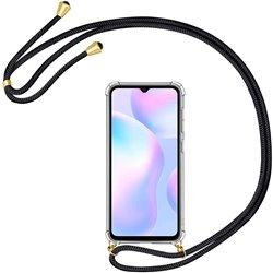 Funda colgante con cordón para Xiaomi Redmi 9A Negro