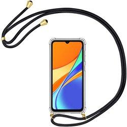 Funda colgante con cordón para Xiaomi Redmi 9C Negro