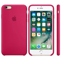 Funda de Silicona suave con logo para Apple iPhone 6 / 6S Rosa