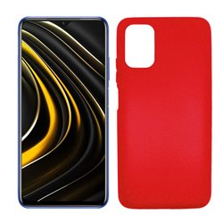 Funda roja para Poco M3 de silicona