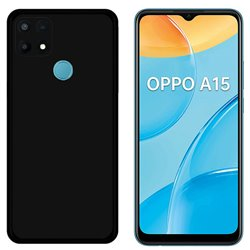 Funda negra para Oppo A15 / A15s de Silicona