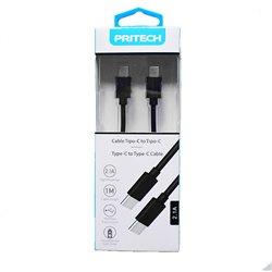 Cable USB C a USB C de 2.1A y Carga Rápida